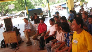 the delegation discussing the manila visit