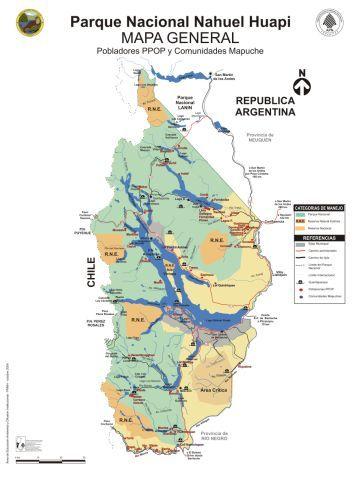 Strengthening Mapuche Governance In Nahuel Huapi National Park - Map argentina national parks